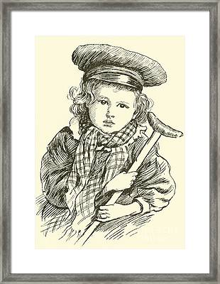 Tiny Tim Framed Print by Harold Copping