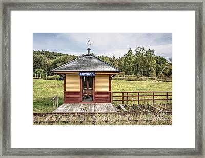 Tiny Train Station Barnet Vermont Framed Print by Edward Fielding