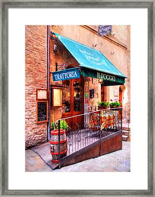 Tiny Trattoria In Tuscany Framed Print