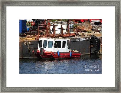 Tiny Tug Framed Print