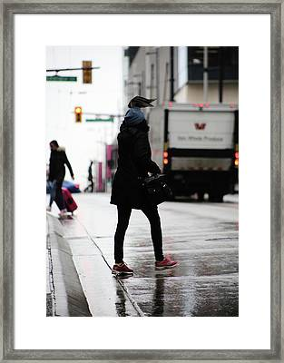 Framed Print featuring the photograph Tiny Umbrella  by Empty Wall