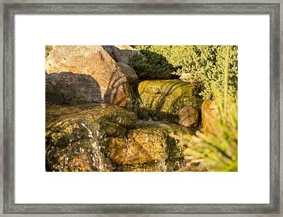 Tiny Waterfalls Framed Print