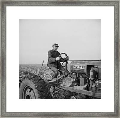 Tip Estes, A Hired Hand On An Indiana Framed Print by Everett