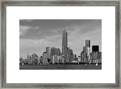 Tip Of Manhattan Framed Print by Yue Wang
