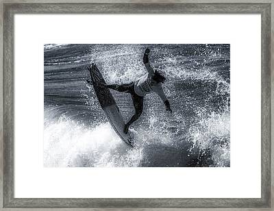 Tip Of The Froth Framed Print