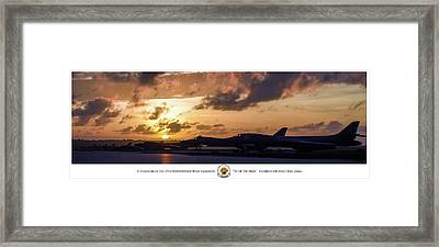 Tip Of The Spear Framed Print