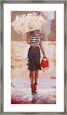 Tip Toe Framed Print by Laura Lee Zanghetti