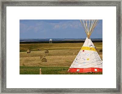 Framed Print featuring the photograph Tipi On The High Plains by Kate Purdy