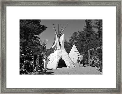Tipis In Black Hills Framed Print