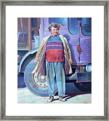 Framed Print featuring the painting Tipperman 1970. by Mike Jeffries