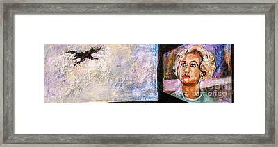 Tippi Hedren The Birds Hitchcock Framed Print by Ginette Callaway