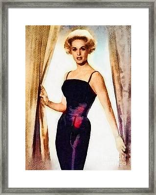 Tippi Hedren, Vintage Actress By John Springfield Framed Print by John Springfield