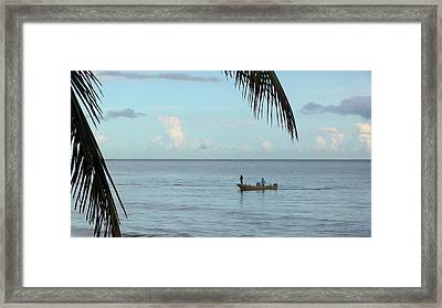Tips Of Palms Framed Print