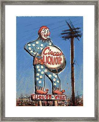 Tipsy The Clown Framed Print