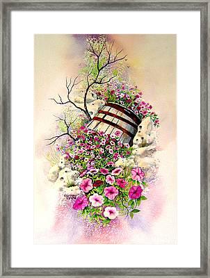 Tipsy Whiskey Barrel Framed Print by Brooke Lyman