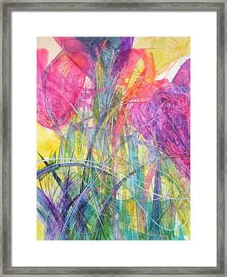 Tiptoe Through The Crocus Framed Print