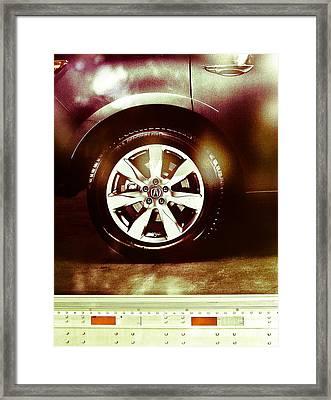 Tire Under The Moonlight Color Framed Print