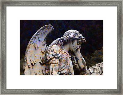 Tired Angel Framed Print