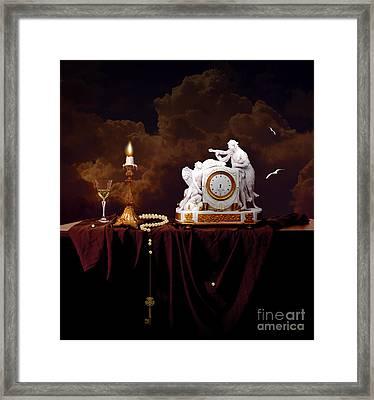 Framed Print featuring the digital art Tired Angels by Alexa Szlavics