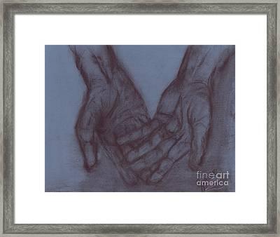 Tired Hands Framed Print