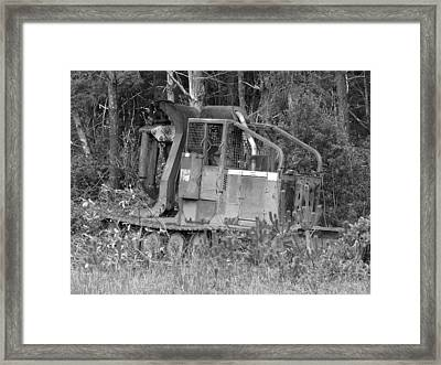 Tired Iron Framed Print by Angi Parks