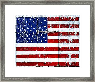 Framed Print featuring the photograph Tired Ole Flag by JoAnn Lense