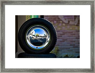 Tired Reflections Framed Print by Sarita Rampersad