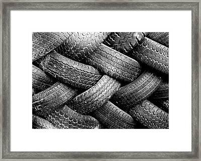 Tired Treads Framed Print