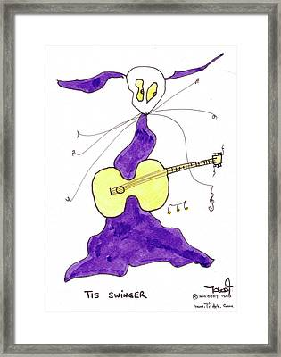 Tis Swinger Framed Print by Tis Art