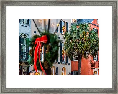 Tis The Season - Charleston Sc Framed Print