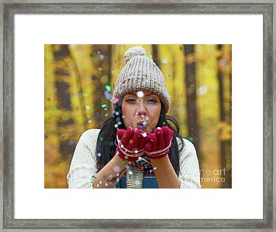Framed Print featuring the photograph Tis The Season.. by Nina Stavlund