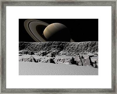 Framed Print featuring the digital art Tital Forces by David Robinson