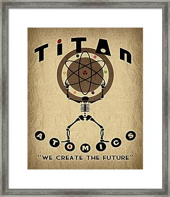 Titan Atomics Framed Print by Cinema Photography