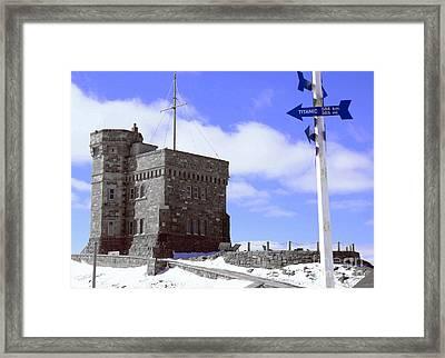 Titanic - Signal Hill Framed Print by Annlynn Ward