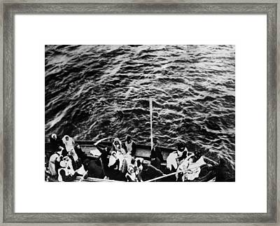 Titanic. A Boatload Of Titanic Framed Print by Everett