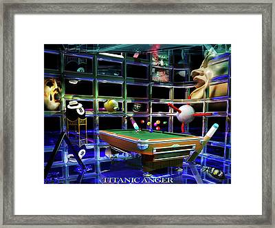 Titanic Anger Framed Print by Draw Shots