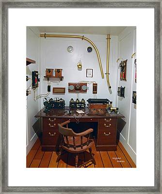 Titanic Communications Framed Print by DigiArt Diaries by Vicky B Fuller