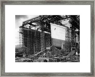 Titanic: Construction, C1910 Framed Print by Granger