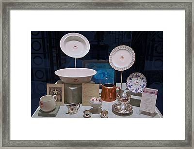 Titanic Dinnerware Framed Print by DigiArt Diaries by Vicky B Fuller