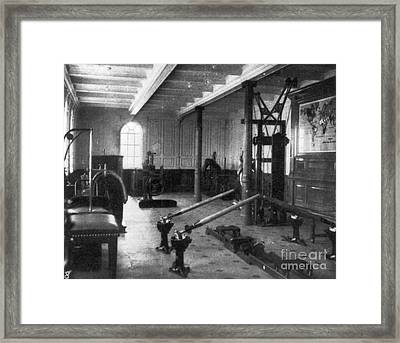 Titanic: Exercise Room, 1912 Framed Print by Granger