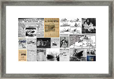 Titanic Headlines From 1912 Framed Print