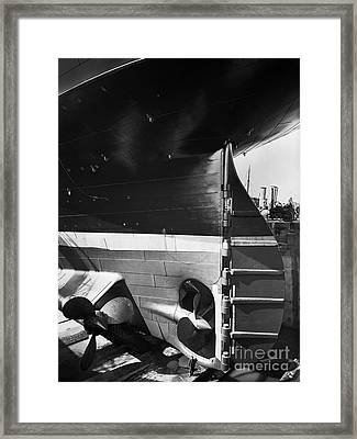 Titanic In The Drydock. Framed Print