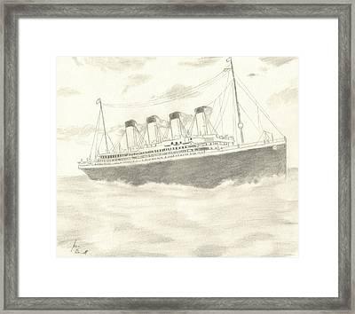 Titanic Framed Print by Josh Bennett