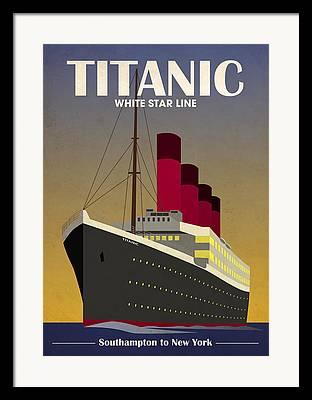 Boat Cruise Digital Art Framed Prints