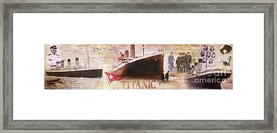 Titanic Panoramic Framed Print by Jon Neidert
