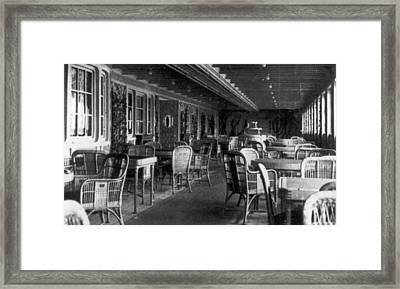 Titanic: Parisian Cafe, 1912 Framed Print by Granger