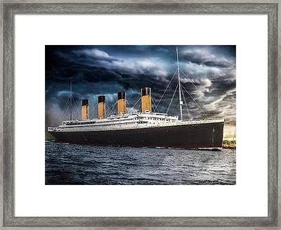 Titanic Photo Restoration Framed Print by Brent Shavnore
