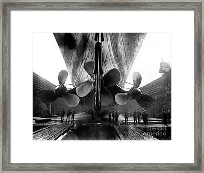 Titanic Propellers Framed Print by Jon Neidert
