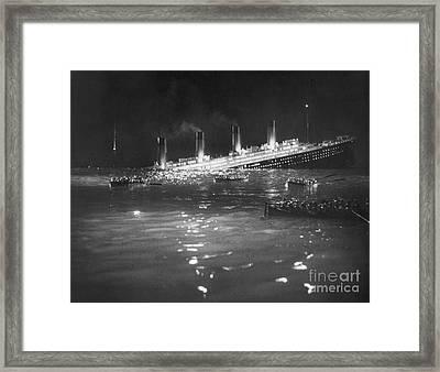 Titanic: Re-creation, 1912 Framed Print by Granger