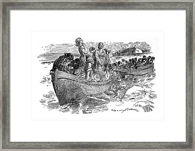 Titanic Sinks - April 1912 Framed Print by Daniel Hagerman